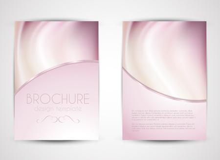 装飾的な二重両面パンフレット デザイン 写真素材