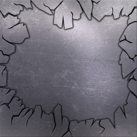 scratches: Cracked grunge metallic background with scratches and stains