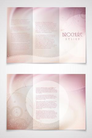 geometric background: Tr�ptico decorativo dise�o de folletos