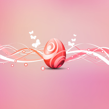eps10: Decorative Easter egg background with butterflies Stock Photo