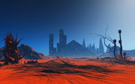 fantasy alien: 3D render of a fantasy alien planet