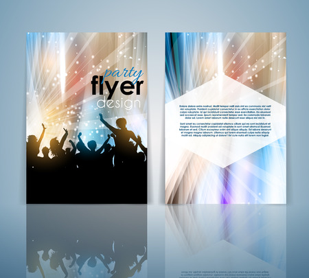 nightclub flyer: Double sided party crowd flyer template