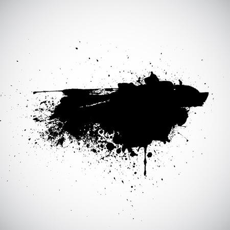 ink splatter: Grunge background with ink splatter