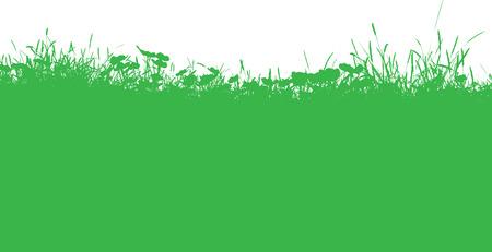 grassy: Silhouette of a grassy landscape