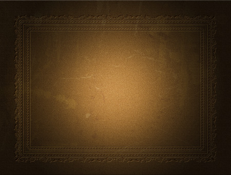 embossed: Grunge background with decorative embossed border Stock Photo