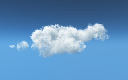 feathery: 3D render of a feathery white cloud Stock Photo