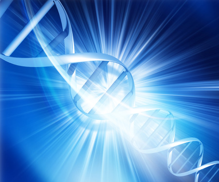 strands: DNA strands on abstract background Stock Photo