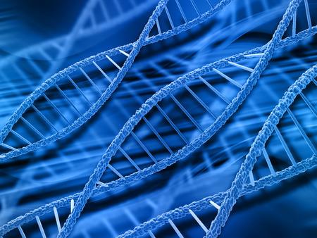 dna strands: 3D render of DNA strands on abstract background