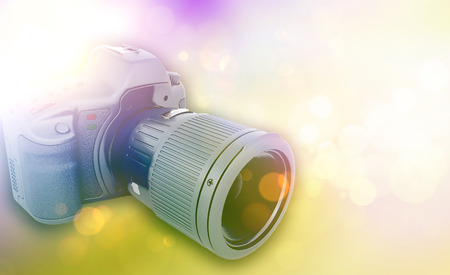 3D render of a camera with vintage retro effect Stock Photo