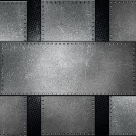 rivet: Detailed abstract metallic background with screws Stock Photo