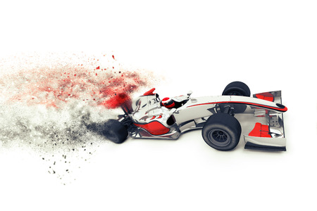 3D render of a generic race car with speed effect