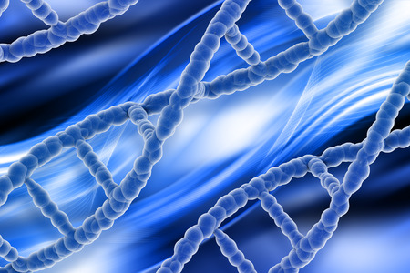 muscle cell: Medical background with abstract 3D DNA strands