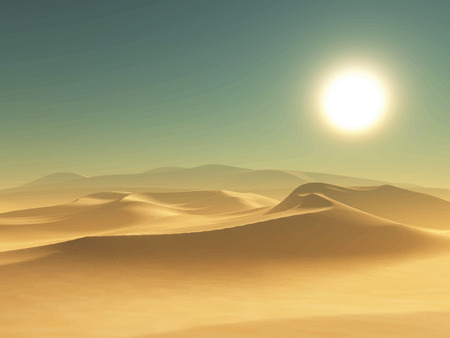 sunny sky: Detailed illustration of a desert background