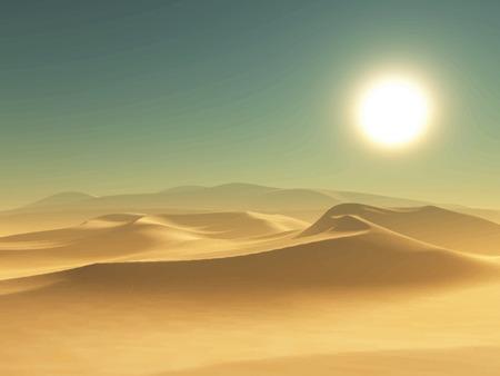 desierto: Ilustraci�n detallada de un fondo del desierto