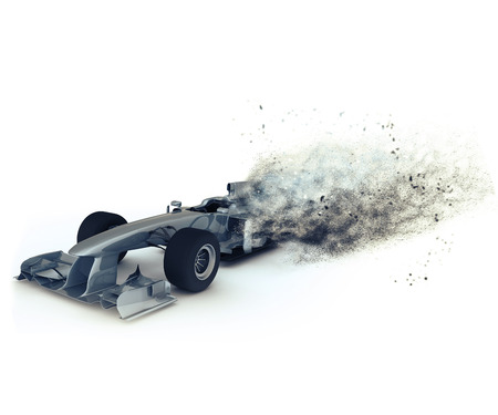 formule: 3D render of a generic racing with special effect depicting speed Stock Photo