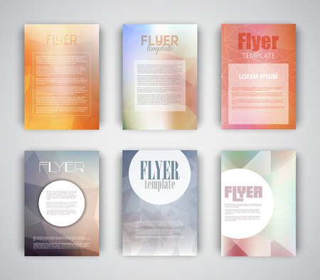 flyer design: Collection of flyer templates with geometric design