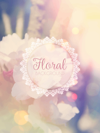 vintage background: Floral background with vintage retro effect Stock Photo