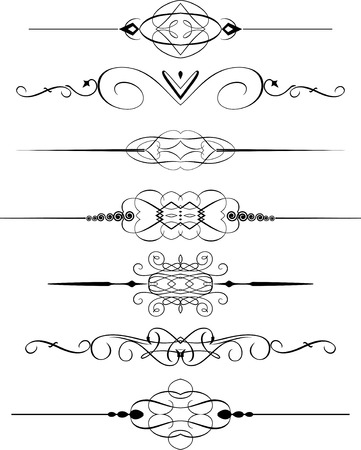 decorative line: Collection of decorative page dividers