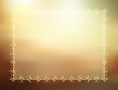 summer border: Decorative summer themed background with border
