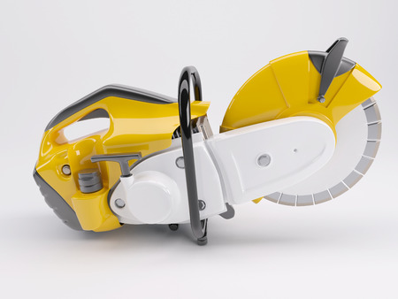 gasoline powered: 3D Render of a Cutt off saw Stock Photo