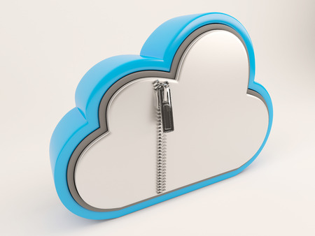 cloud: 3D Render of Cloud Drive Icon Stock Photo