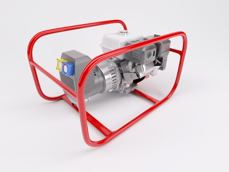 generator: 3D render of a Gas powered generator Stock Photo