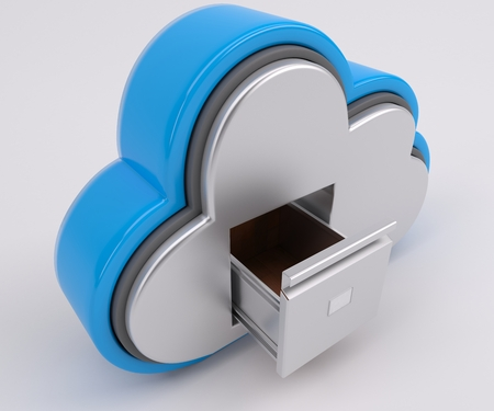 web icon: 3D Render of Cloud Drive Icon Stock Photo
