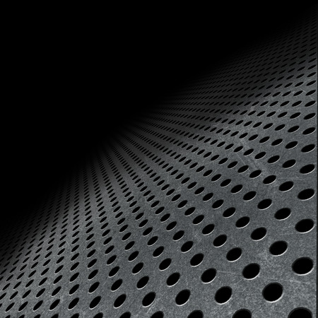 aluminium texture: Abstract background with perforated metal fading into the distance