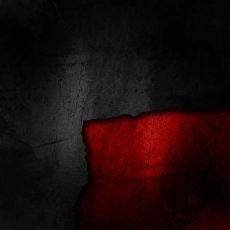 carbon fibre: Grunge black background on a dirty red texture