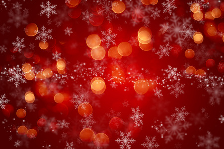Christmas background with a snowflake design and bokeh lights Imagens