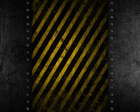amarillo y negro: Fondo de metal grunge con una textura apenada amarillo y negro