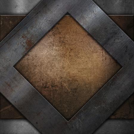 grunge frame: metal textured background with a grunge metallic frame