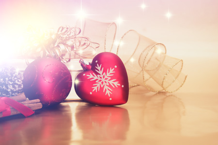 christmas decorations: Decorative background with Christmas decorations