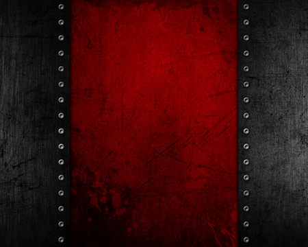 dent: Grunge metal background with a red distressed texture Stock Photo