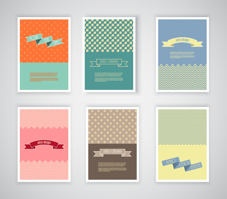 vintage document: Collection of retro design templates