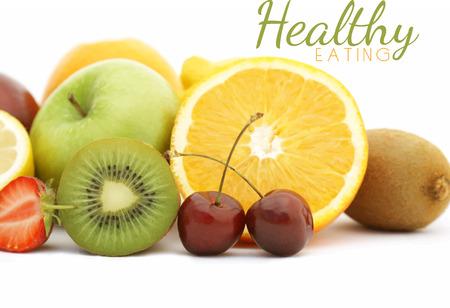 fruit background: Photorealistic vector background of fresh fruit