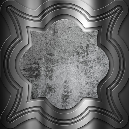 aluminium texture: Decorative metal background with a grunge centre