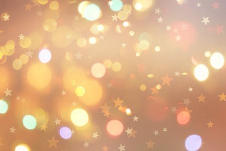 Światła: Christmas tła z gwiazd i światła bokeh