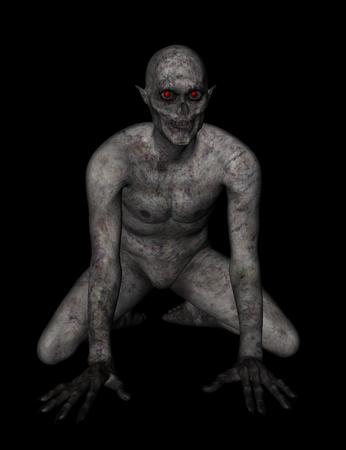 demonio: 3D render de una figura demoníaca - ideal para Halloween Foto de archivo
