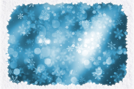 Christmas background with snowy border