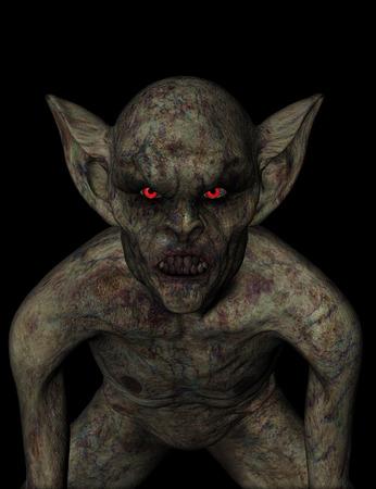 demonio: 3D render de un demonio de Halloween de miedo