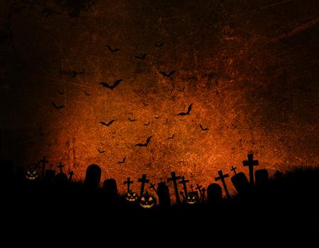 3d halloween: Halloween background with dark grunge effect