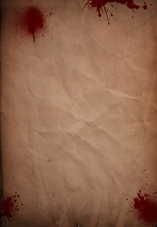 gore: Halloween background with blood splats on grunge paper