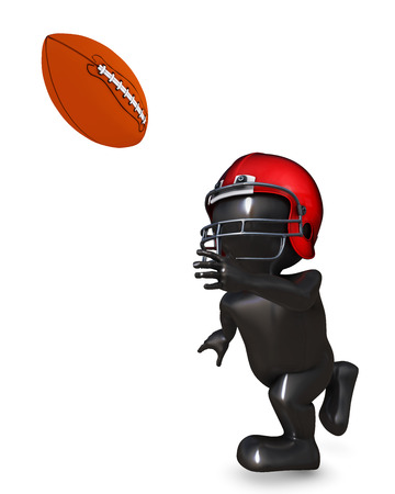 morph: 3D Render of Morph Man playing american football