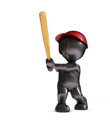 morph: 3d render of morph man playing baseball