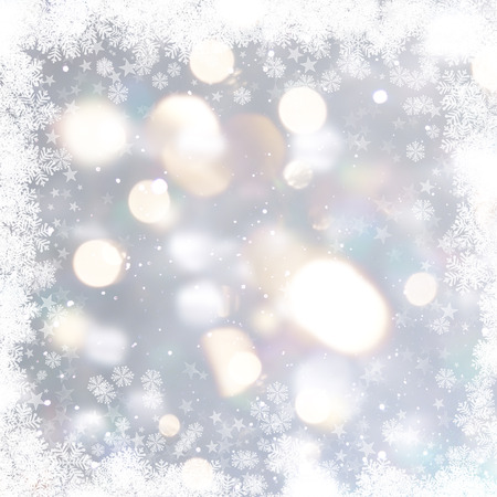 silver: Silver Christmas background with snowflakes and stars
