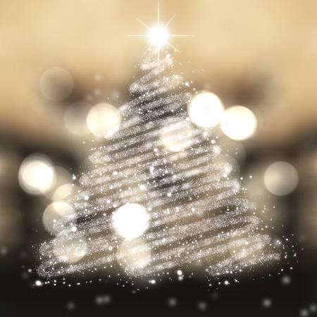 festive: Christmas tree of stars festive background Stock Photo