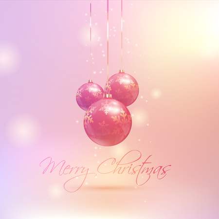 coloured background: Christmas baubles on a retro coloured background Stock Photo