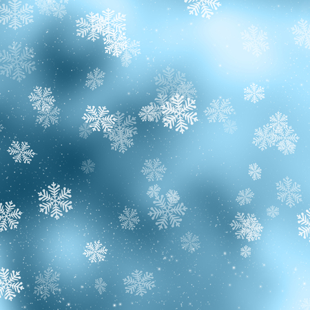 christmas snowflakes: Christmas background with snowflakes and stars