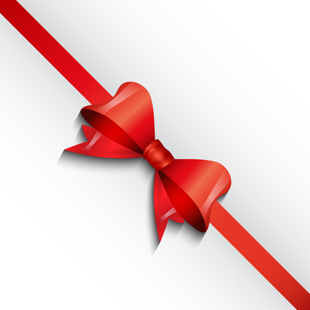 christmas gift: Christmas background with red gift bow